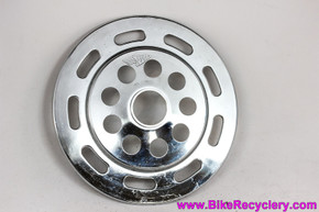 NOS Simplex Spoke Protector Dork Disc: Chrome w/ Holes & Slots - Vintage 1960's 1970s