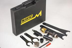 Mavic SSC Vintage Tool Kit in Black Case: Complete - 652 Bottom Bracket Chamfer/Facer - 671/672 Headset -  6RD-500/550 Hub - 670 BB/HB Key - etc (Almost NOS)