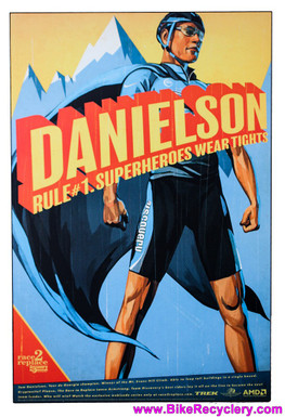"Tom Danielson Race to Replace Discovery Trek Team Artwork One-Off Painted on WOOD: 36"" x 24"" x 10mm Thick (MINT)"