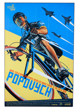 "Yaroslav Popovych Race to Replace Discovery Trek Team Artwork One-Off Painted on WOOD: 36"" x 24"" x 10mm Thick (MINT)"