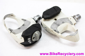 Campagnolo Record QR Clipless Pedals: PD-22RE QR - Vintage 1996 - White - Adjustable Release (PERFECT Bearings)