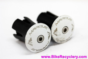 Marque Alloy ENZ Road Handlebar End Plugs: White