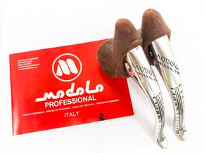 NOS Modolo Professional INTERN. PAT Brake Levers: Tan 919 Anatomica Gum Hoods