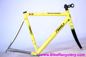 2004 Litespeed Vortex Mavic SSC Neutral Support Bike Race Frame: 57cm - 6/4 Titanium - Reynolds Carbon Fork - Yellow *Ridden in Pro Stage Races*