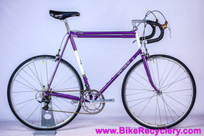 1992 Spectrum Cycles / Tom Kellogg Road Bike: 64cm x 59cm - NEW Joe Bell Resto & NOS Parts - PURPLE & White -  Record / DA 10sp - Henry James Dogbone