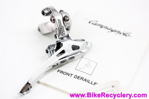 NOS Campagnolo Record 10s Alloy Front Derailleur: 28.6mm -Silver - FD00-RE2F2810