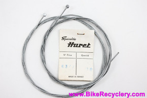NOS Huret Derailleur/Shift Cables: Sold in Pairs - Disc End - Braided Steel