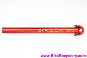 Kooka Seatpost: 1990's Red Anodized - 26.8mm x 360mm - Zero Setback (Near Mint Low Miles)