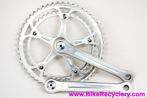 Campagnolo Super Record 180mm Crankset #1049/A: 52/42t - Dust Caps & Bolts - Vintage Early 1980's (Near Mint++ Nearly NOS)