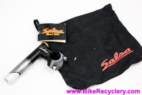 "NIB/NOS Salsa Moto S.U.L Quill Stem: 1"" x 50mm x 26.0mm x 90D - Removable Faceplate - Zero Rise - Vintage 1990's - Black/Gold/Grey #SM8370"