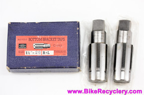 "NOS Hozan HTK C-402 Bottom Bracket Tap Set: Raleigh Size 1 3/8"" x 26 TPI"