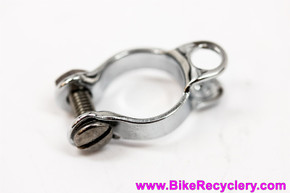 """NIB/NOS Campagnolo #636 Chainstay Cable Housing Stop Clamp for Rear Derailleur: Chrome Steel - 5/8"""" Bolt/Nut (Many Available)"""