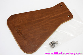 Gilles Berthoud Mudflap: Brown Leather - Stainless Steel Bolts / Washers (NEW)