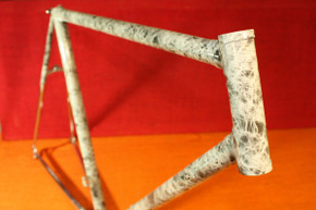 NOS TITAN Road Bike Frame: Wild Custom Paint by Dossena Carlo, Swiss, Columbus SL Lugged Steel