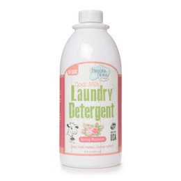 Spring Blossom Liquid Goat Milk Laundry Detergent with Enzymes.