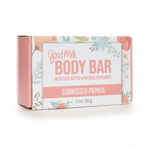 Sunkissed Papaya Goat Milk Exfoliating Body Bar