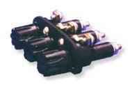 Three Pole Panel Mount Non-Blown Indicating fuse holder  for 3AG/3AB fuses by FIC