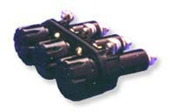 Three Pole Panel Mount Non-Blown Indicating fuse holder  for 5AG/5AB, Midget fuses by FIC