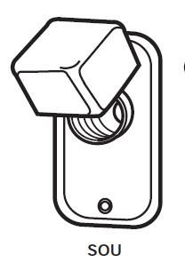 "SOU Box Cover Unit for Plug Fuse, Single Receptacle, 2 1/4"" Handy, 15A Max, 125V"