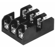 BC6033P 3 Pole Fuse Block for Class CC Fuses, 1/10 to 30Amp, 600V, Pressure Plate Termainal