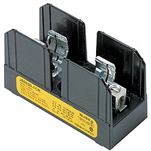 J60030-2CR 2 Pole Fuse Block for Class J Fuses, 1/2-30 Amp, 600V, Box Lug Terminal with Clip reinforcing springs