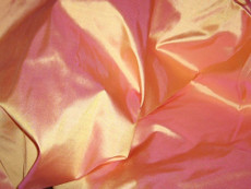 Cream Gold Shot Pink 100% Authentic Silk Fabric