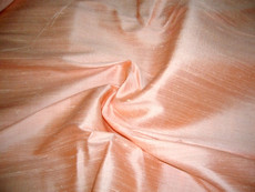 Orange Peach 100% Silk Dupioni Fabric