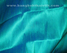 Green Shot Blue 2-TONES 100% Silk Dupioni Fabric