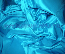 Aqua Blue 100% Authentic Silk Fabric