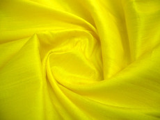 Yellow 100% Silk Dupioni  Fabric