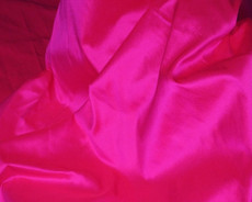 Hot Pink Shot Red - 100% Authentic Silk Fabric