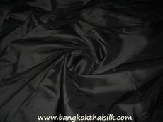 Black 100% Authentic Silk Fabric