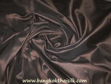 Dark Brown 100% Authentic Silk Fabric