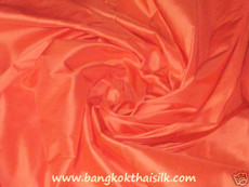 Pumpkin Orange 100% Authentic Silk Fabric