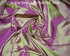 Lime Green Shot Pink 100% Authentic Silk Fabric