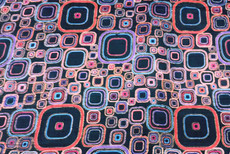 Black Squares Retro Print 100% Silk Dupioni Fabric