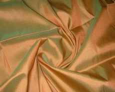 Copper Shot Green 100% Authentic Silk Fabric