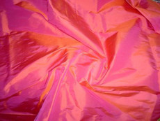 Vermilion-Pink 100% Authentic Silk Fabric