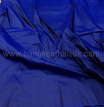 Cobalt Blue Shot Black 100% Authentic Silk Fabric Material!