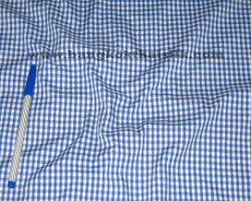 "Gingham 1/8"" Dorothy Royal Blue Check 100% Cotton"