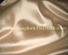 "Italy Hi-End 58"" Faux Silk Fabric - Champagne Gold"