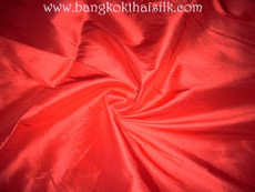 "Red Faux Silk Taffeta 60""W Fabric"