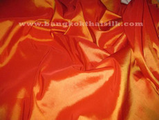 "Orange Shot Red Faux Silk Taffeta 60""W Fabric"