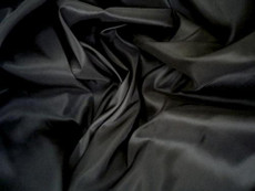 "Black Faux Silk Taffeta 60""W Fabric"