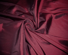 "Burgundy Faux Silk Taffeta 60""W Fabric"