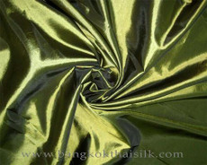 "Lime Green Faux Silk Taffeta 60""W Fabric"