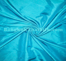 """Turquoise Blue Faux Silk Taffeta 60""""W Fabric"""