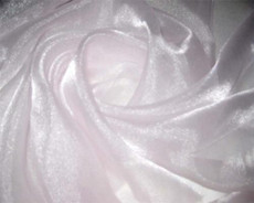Sparkle Sheer Organza - Pale Pink