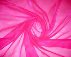 Sparkle Sheer Organza - Shocking Pink