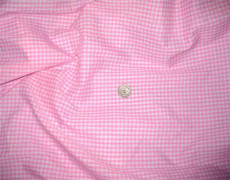 "Gingham Pink & White 1/8"" Check 100% Cotton Fabric"